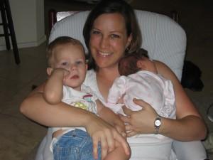 My Mini-me, Arlo (nephew) and Alex (niece)